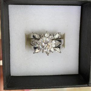 Jewelry - Beautiful 3 piece sterling silver engagement set